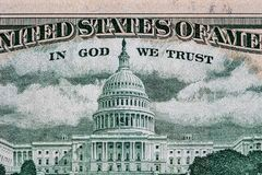 Capitólio do Estados Unidos descrito na conta de 50 USD Imagens de Stock
