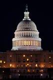 Capitólio na noite, Washington dos E.U., C.C. Fotografia de Stock
