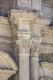 Capita barroca de la iglesia del detalle del columnl Foto de archivo libre de regalías