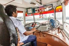 Capitain della barca ferrry a Bangkok, Tailandia Fotografia Stock Libera da Diritti