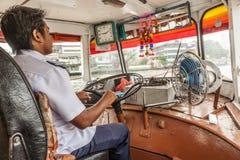 Capitain della barca ferrry a Bangkok, Tailandia Fotografie Stock