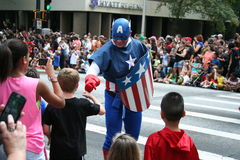 Capitaine America Photo libre de droits
