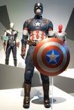 Capitaine America Custome d'exposition de merveille d'Australie de Brisbane photographie stock