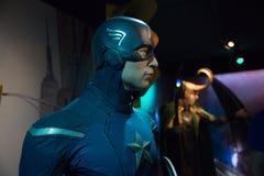 Capitaine America dans le musée de Madame Tussauds image stock