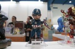 Capitaine America de nombre d'actions de caractère fictif photographie stock libre de droits