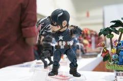 Capitaine America de nombre d'actions de caractère fictif photo stock