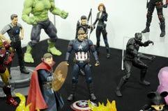 Capitaine America de nombre d'actions de caractère fictif des bandes dessinées et des films de merveille image stock