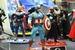 Capitaine America de nombre d'actions de caractère fictif des bandes dessinées et des films de merveille photos stock