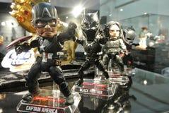 Capitaine America de nombre d'actions de caractère fictif des bandes dessinées et des films de merveille photographie stock