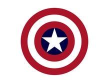 Capitaine America Logo, super héros illustration stock
