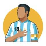 Capitaine Argentina du football illustration de vecteur