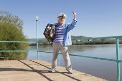 Capitaine dans le voyage de touristes Photo libre de droits