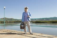 Capitaine dans le voyage de touristes Photos stock