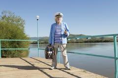 Capitaine dans le voyage de touristes Photos libres de droits