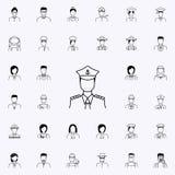 capitaine de l'icône de bateau Ensemble universel d'icônes de Proffecions pour le Web et le mobile illustration de vecteur