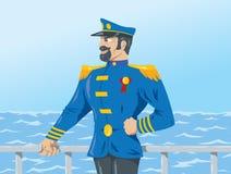 Capitaine de la marine marchande Photographie stock libre de droits