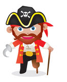 Capitaine de pirate de bande dessinée Photo libre de droits
