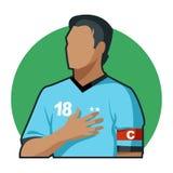 Capitaine du football illustration libre de droits