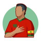 Capitaine du football illustration de vecteur