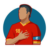 Capitaine du football images stock