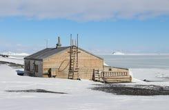 Capitaine Scotts Hut, Antarctique Images libres de droits