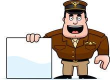 Capitaine Sign de bande dessinée illustration stock