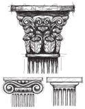 Capitais de coluna ilustração do vetor