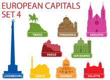 Capitais europeus Foto de Stock Royalty Free