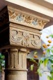 Capital árabe da coluna Foto de Stock Royalty Free