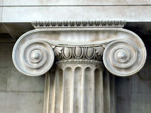 Capital. Detail of a Greek Ionic column capital Stock Images