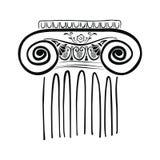 Ancient Greek column. vector illustration