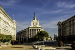 Capital búlgara bonita - Sófia em outubro Fotografia de Stock Royalty Free