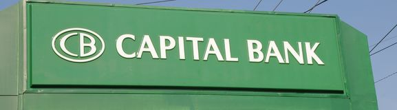 Capital Bank Sign Royalty Free Stock Image