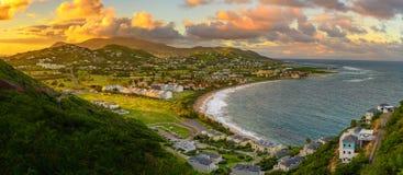 Capital Basseterre del santo San Cristobal y de Nevis foto de archivo libre de regalías