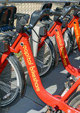 Capital bikeshare, a Bicycle share program in Washington DC Royalty Free Stock Images