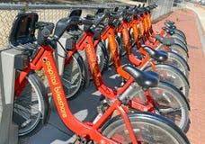 Capital bikeshare, a Bicycle share program in Washington DC Stock Image