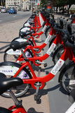 Capital BIXI Bike Station Stock Images