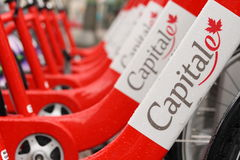 Capital BIXI Bikes Royalty Free Stock Images