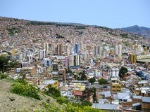 Capital of Bolivia - La Paz - View on the suburbs Stock Photos