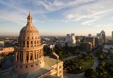 Capital Building Austin Texas Government Building Blue Skies Stock Images