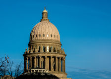 Capital building in Boise Idaho close up of dome Royalty Free Stock Photo