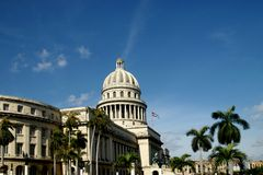 Capital Building Cuba. Famous Capital Building in Cuba, a replica of washington building Stock Photos