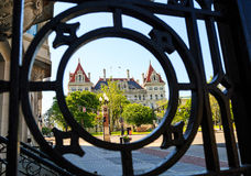 Capital building through grating downtown Albany NY Stock Image