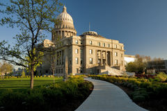 Capital building and sidewalk Royalty Free Stock Images