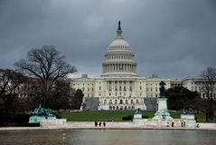 Capital Building during winter Royalty Free Stock Image