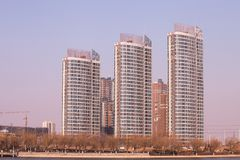 High density apartment block in Beijing, China stock image