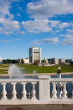 Capital of Chuvashiya the city of Cheboksary Stock Photos