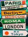 Capital Cities Arrow Sign Information Royalty Free Stock Images