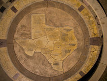 Capital Cities Texas Map Concrete Aerial View Austin. This cirlce is from the top of Butler Park across from Auditorium Shores in Austin , TX downtown area from Royalty Free Stock Photos