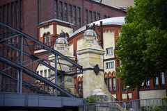 Architecture on the banks of the River Spree in Berlin Germanu stock photos